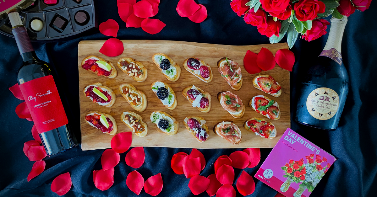 Valentine's Day crostini