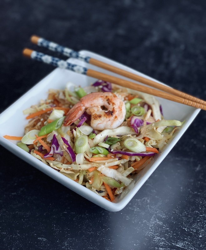 shrimp egg roll in a bowl recipe