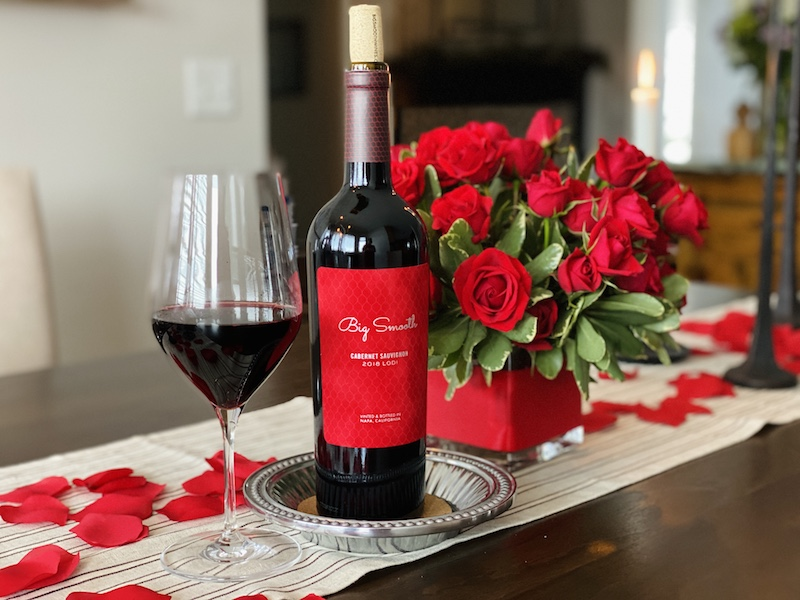 romantic valentine's day at home wine