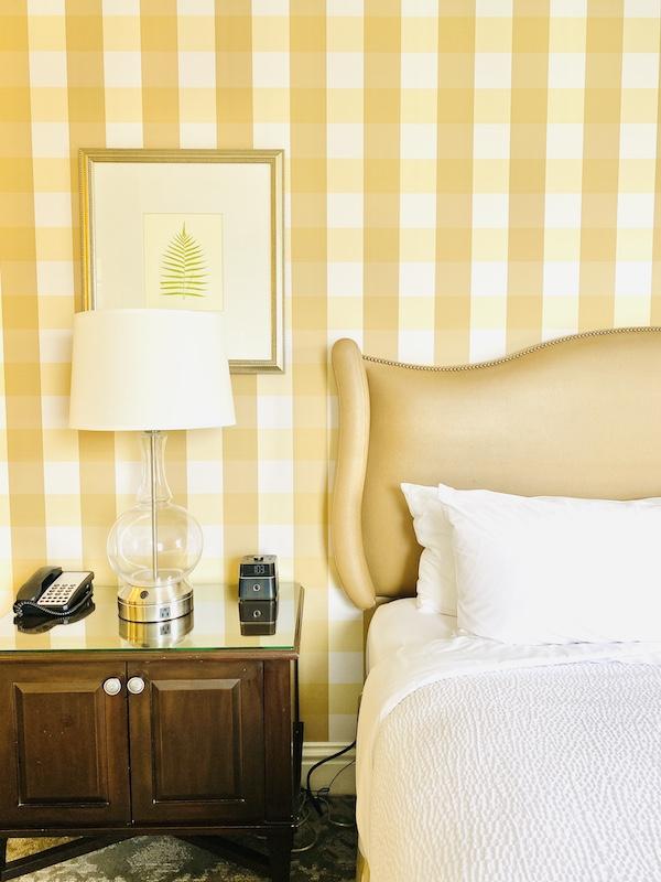 Luxurious bedding at Raphael Hotel Kansas City