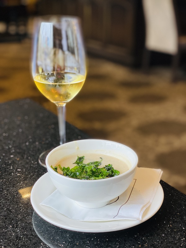 White bean soup with Kale at Chaz on the Plaza at Raphael Hotel Kansas City