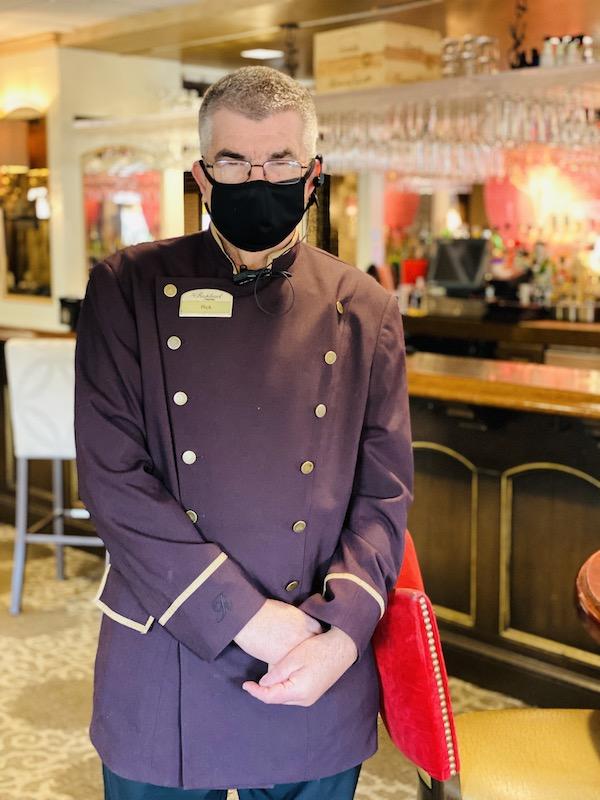 bell hop rick at Raphael Hotel Kansas City