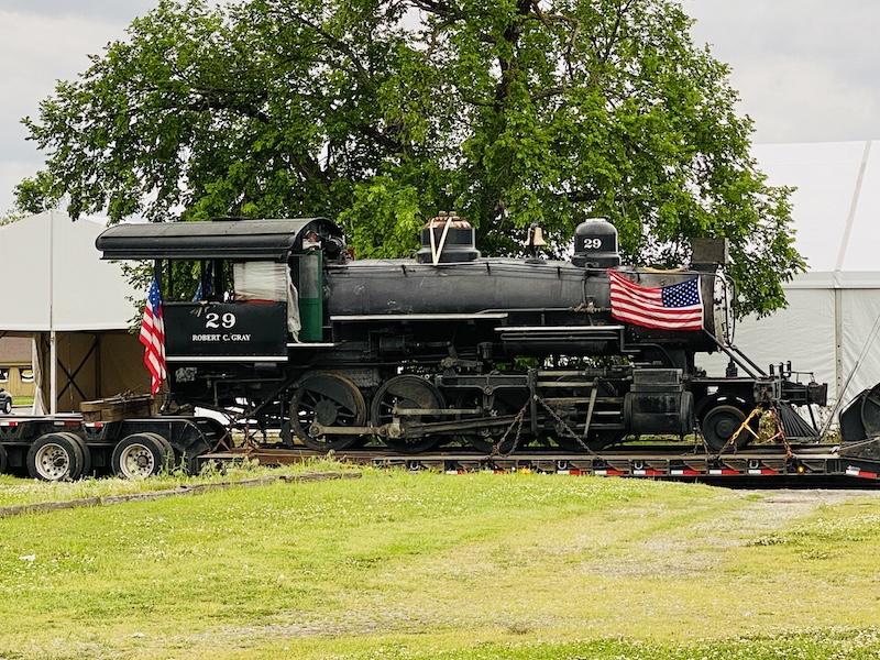 Pawhuska movie preparation steam locomotive