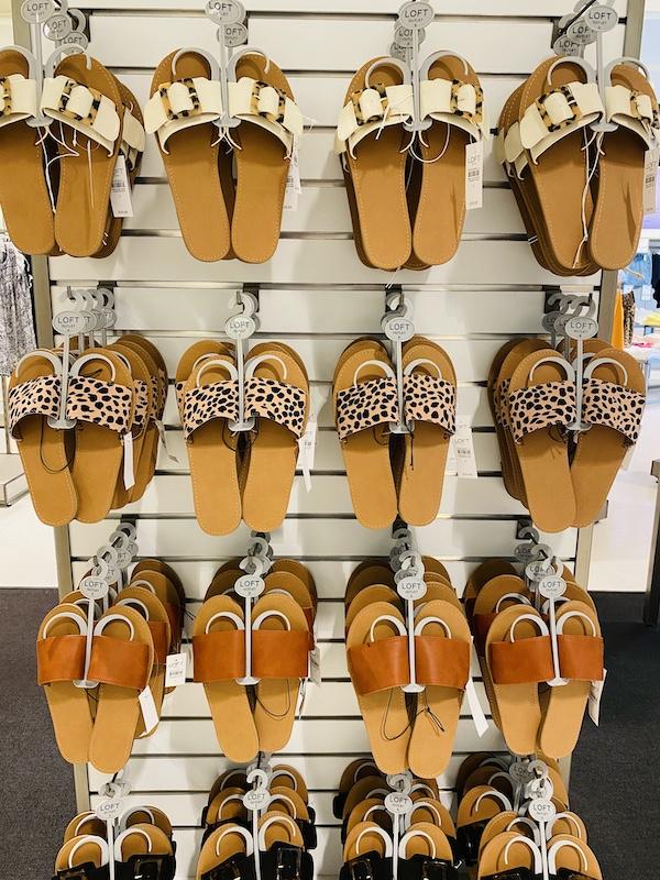 sandal selection Legends Outlets Kansas City