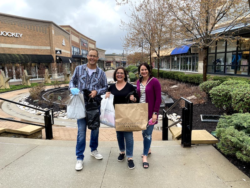 Shopping at Legends Outlets KC