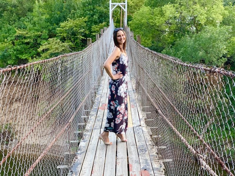 Things to do outdoors in Pawhuska swinging bridge