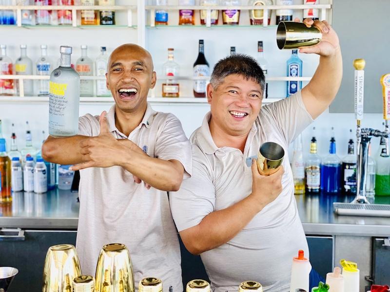 Bartenders aboard the Celebrity Edge