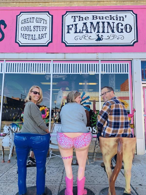 the bucking flamingo stools