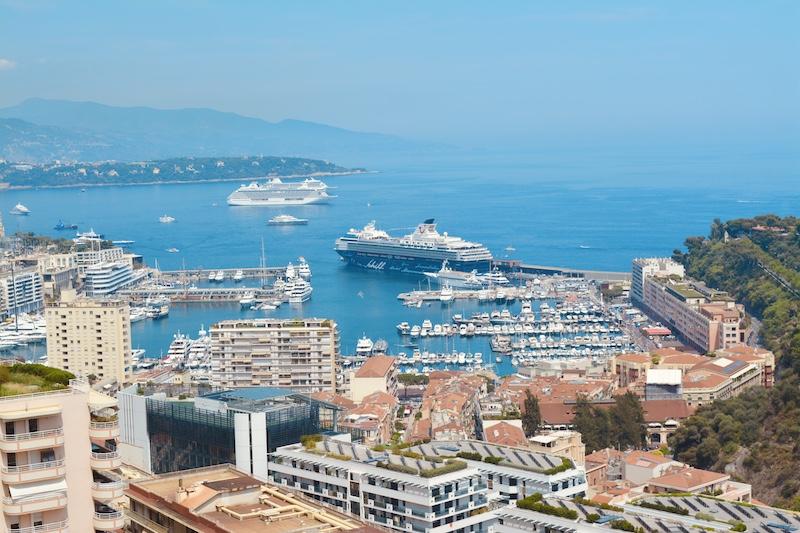 View during a Mediterranean cruise