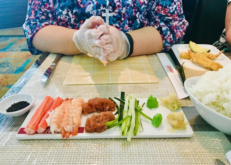 Sushi class on Royal Caribbean
