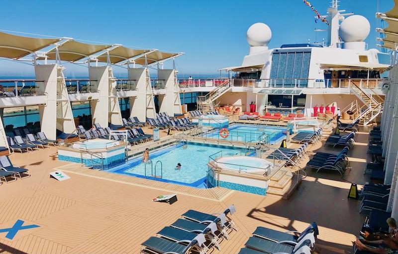 pool deck on celebrity relection