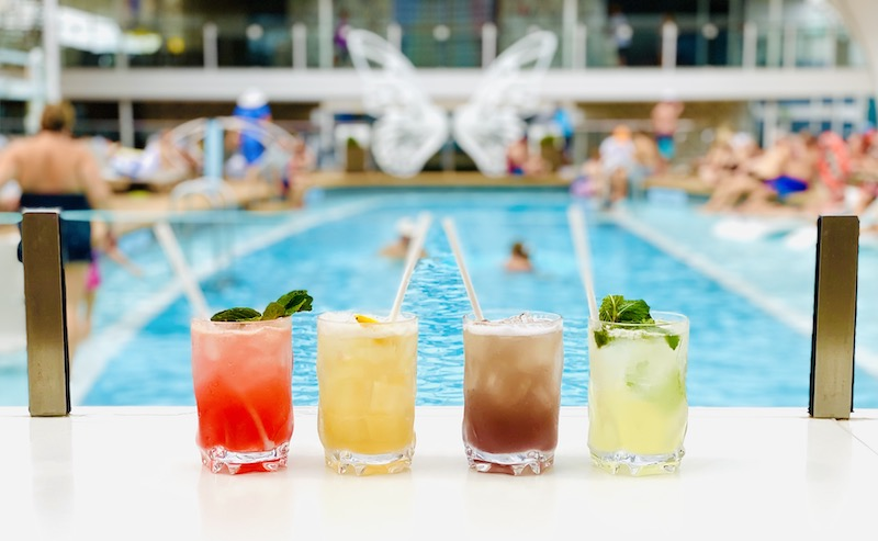 avoid gaining weight on a cruise cocktails by the pool