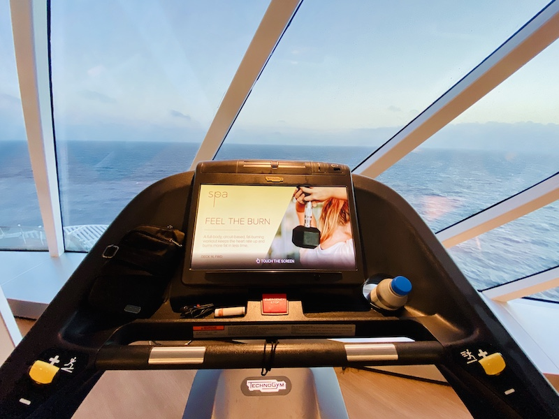 avoid gaining weight on a cruise fitness center view