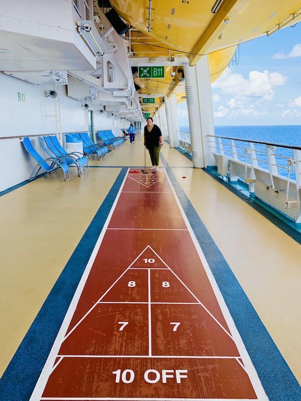 avoid gaining weight on a cruise shuffleboard